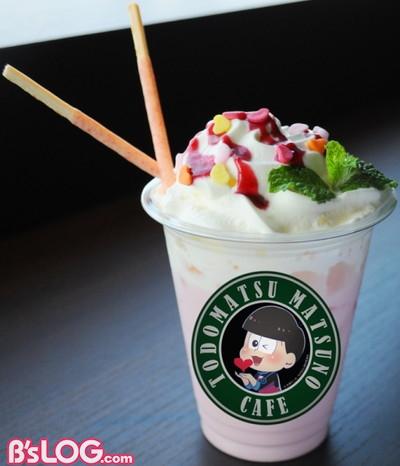 20_トド松CAFE特製ストロベリーラテ