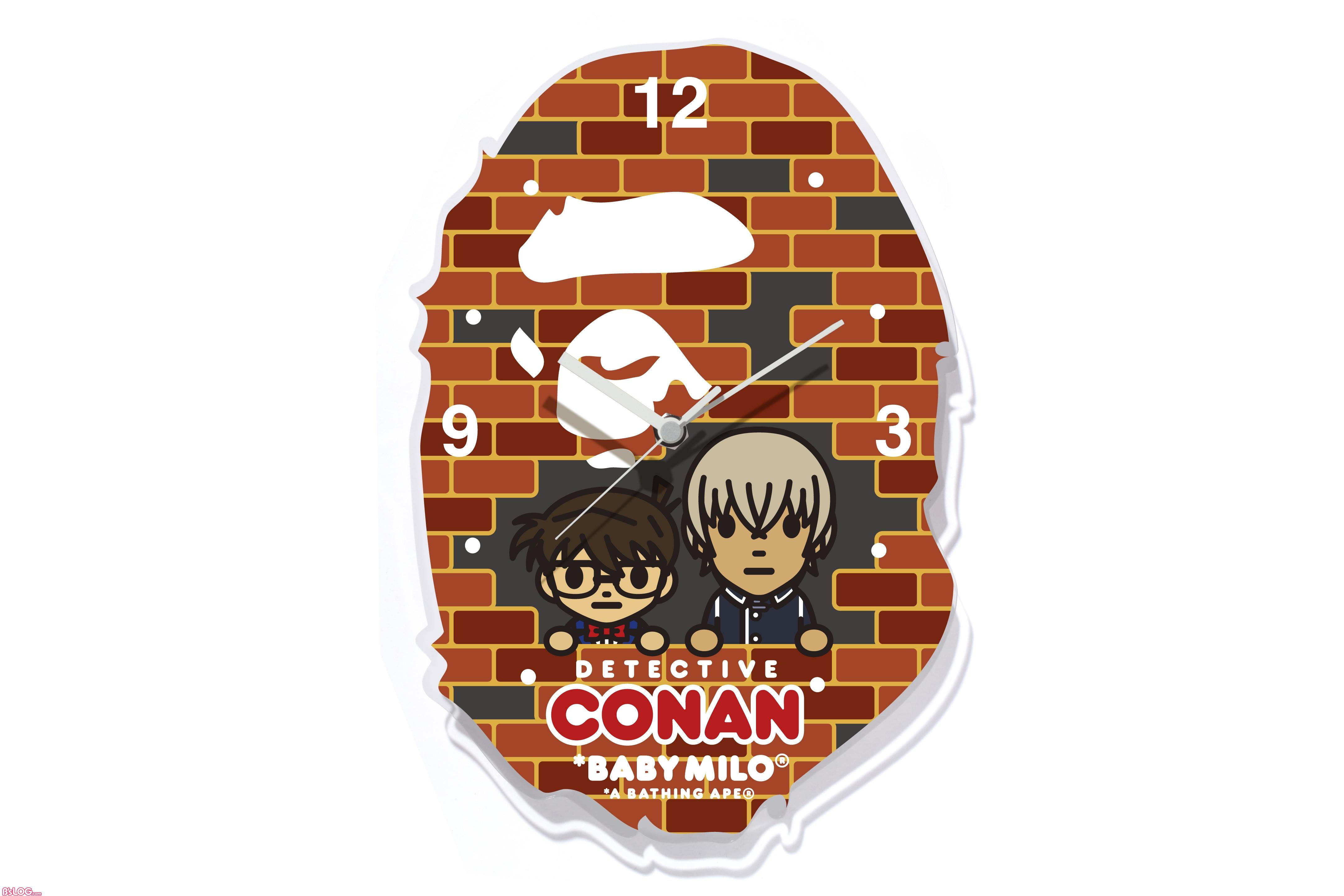 BAPE X CONAN APE HEAD WALL CLOCK M