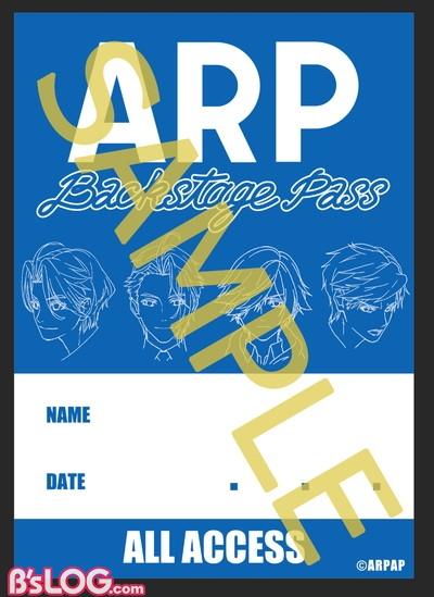 ARP_バックステージパスステッカーBLUE ver