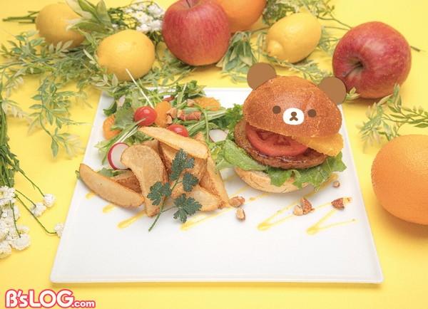 チャイロイコグマのオレンジバーガー