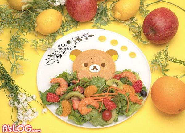 リラックマのフルーツサラダ